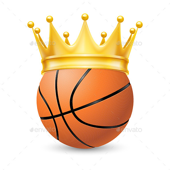 GraphicRiver Gold Crown on a Basketball 11342506
