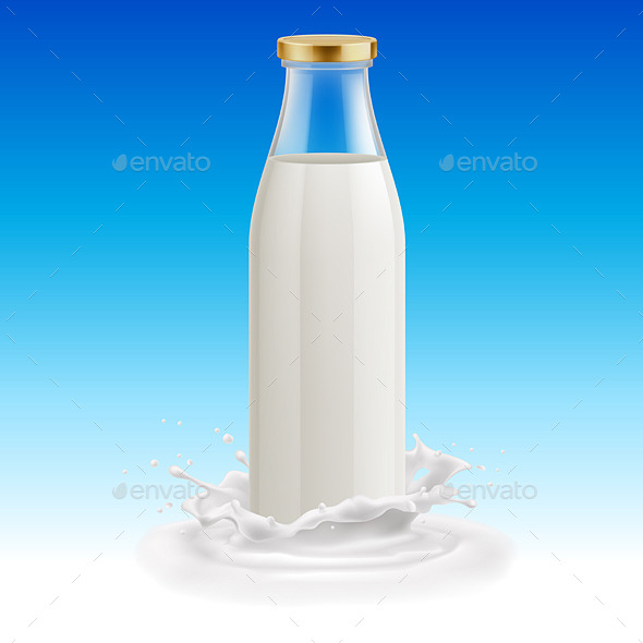 GraphicRiver Milk Bottle 11342507