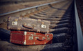 Old suitcases on rails - PhotoDune Item for Sale
