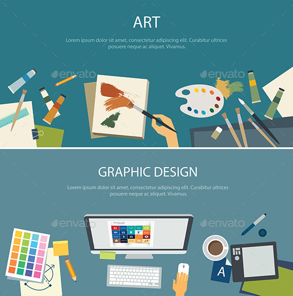 GraphicRiver Art Education and Graphic Design Web Banner 11349151