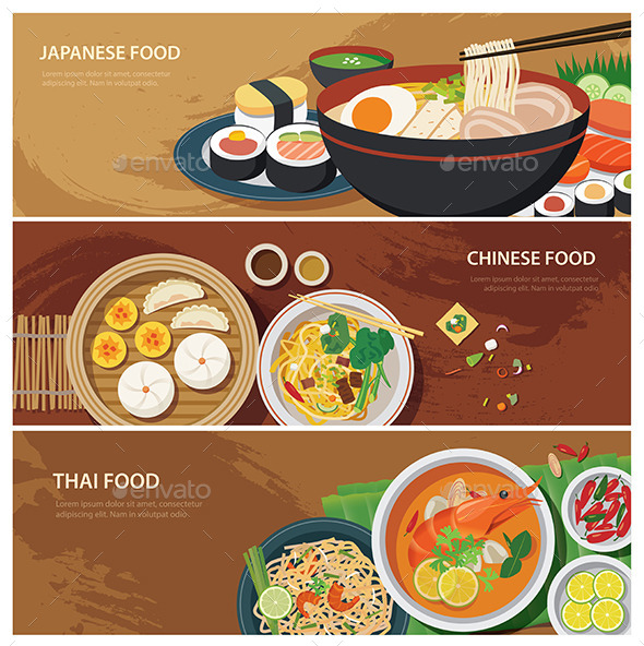 GraphicRiver Asia Street Food Web Banner 11349161