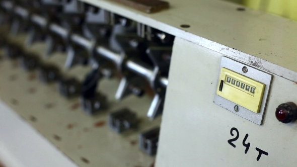 Counter On Machine In Production Hall