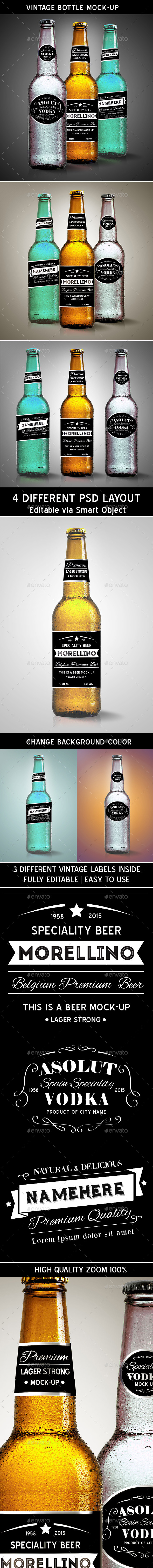 GraphicRiver Vintage Bottle Mock-up 11284746