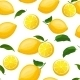 Seamless Pattern with Lemons - GraphicRiver Item for Sale