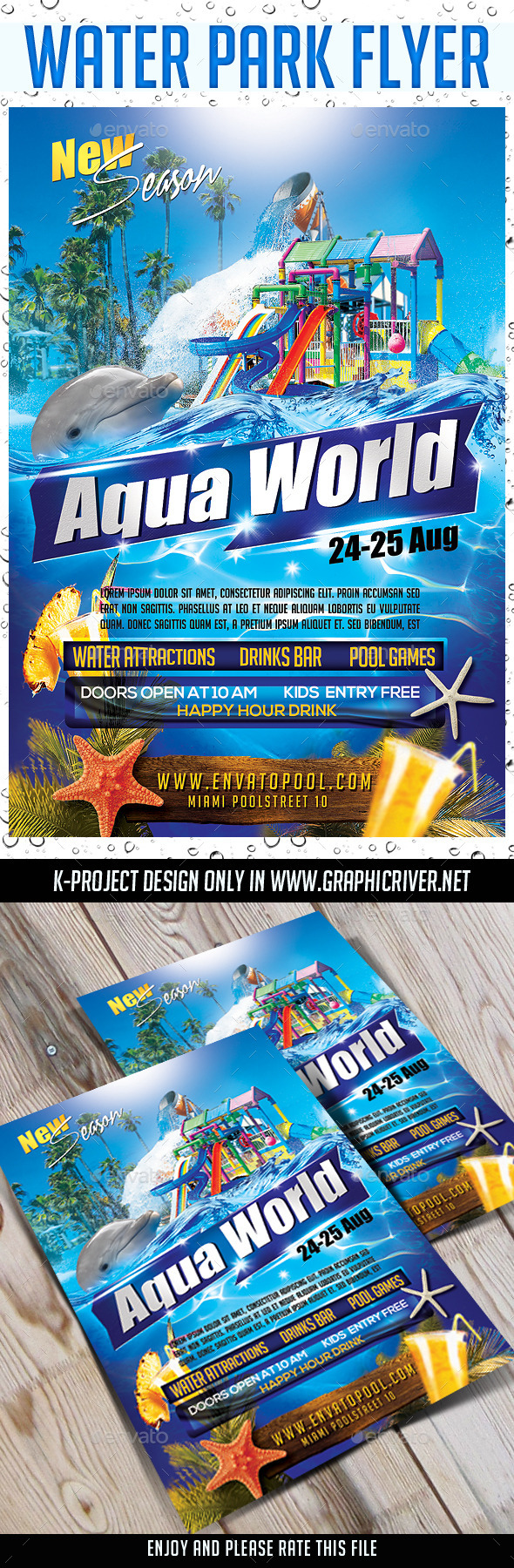 GraphicRiver Water Park Flyer 11349327