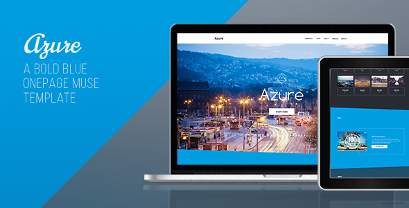 Azure - One Page Muse Template - Creative Muse Templates