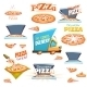 Pizza Icons Set - GraphicRiver Item for Sale