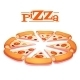 Hot Pizza on White - GraphicRiver Item for Sale