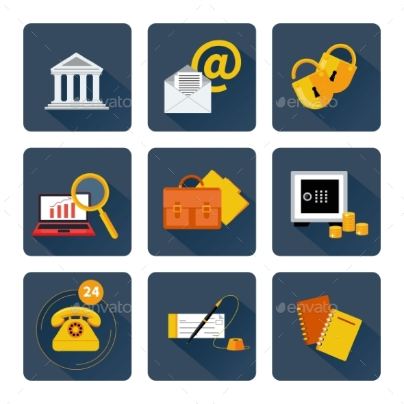 GraphicRiver Icon Set for Finance and Banking 11349659