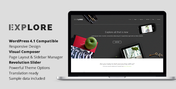 ThemeForest Explore Responsive Business WordPress Theme 11349699