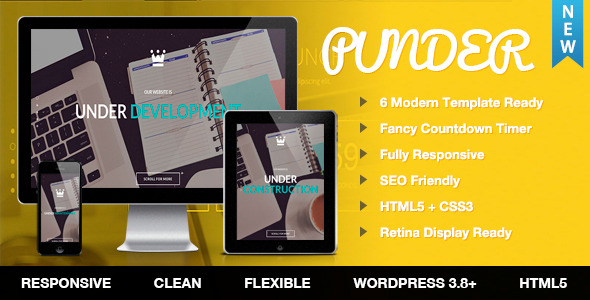 CodeCanyon Punder WordPress Maintain and Coming Soon plugin 11349922