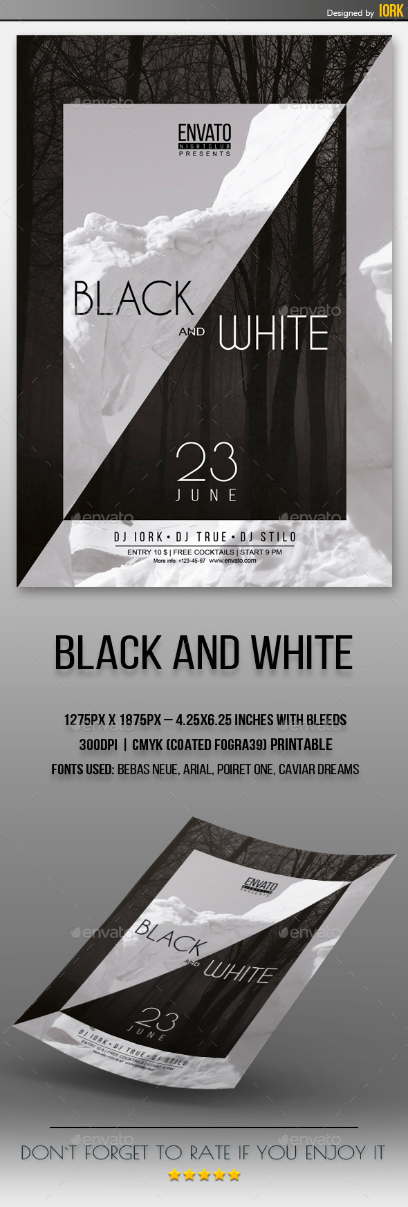 GraphicRiver Black and White Flyer 11349926