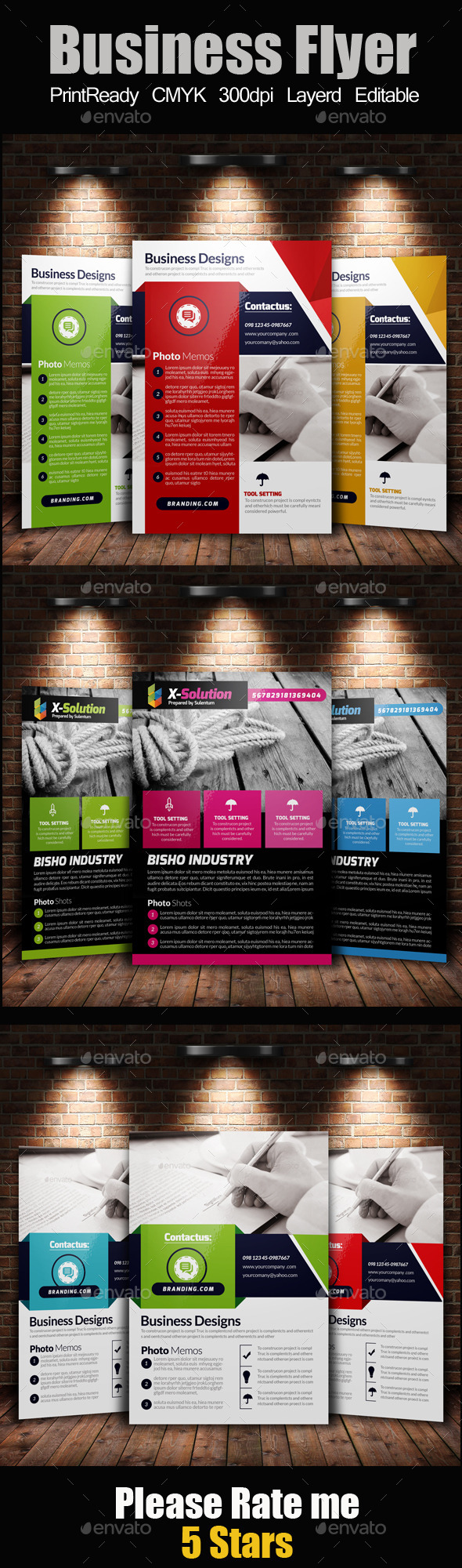 GraphicRiver A4 Business Flyer Template Bundle 11349940