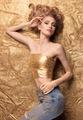 Fashion Beauty Girl Lying On Golden Glitter. - PhotoDune Item for Sale