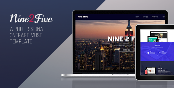 Nine 2 Five - One Page Muse Template