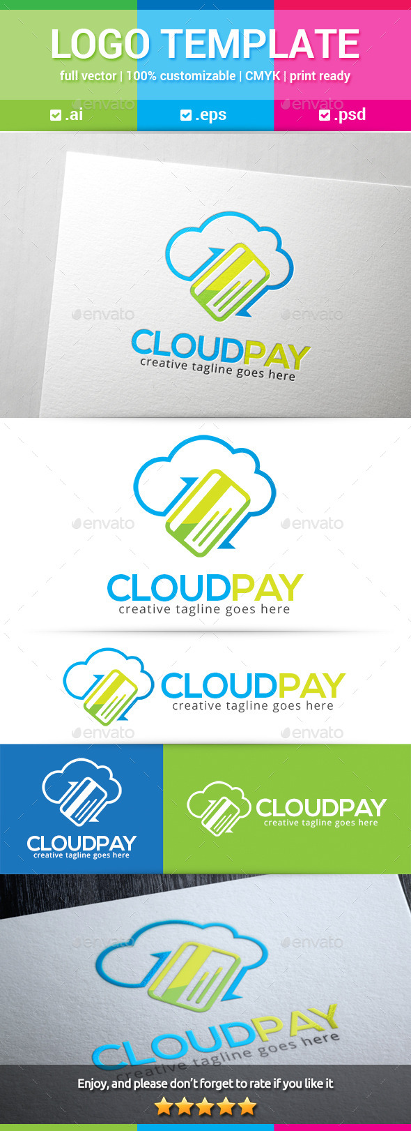 GraphicRiver Cloud Pay Logo 11350023