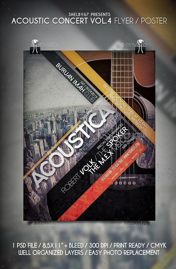 GraphicRiver Acoustic Concert Flyer Vol.4 11350037