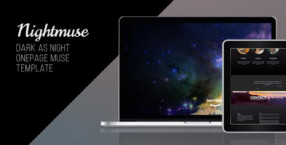 Nightmuse - One Page Portfolio Muse Template