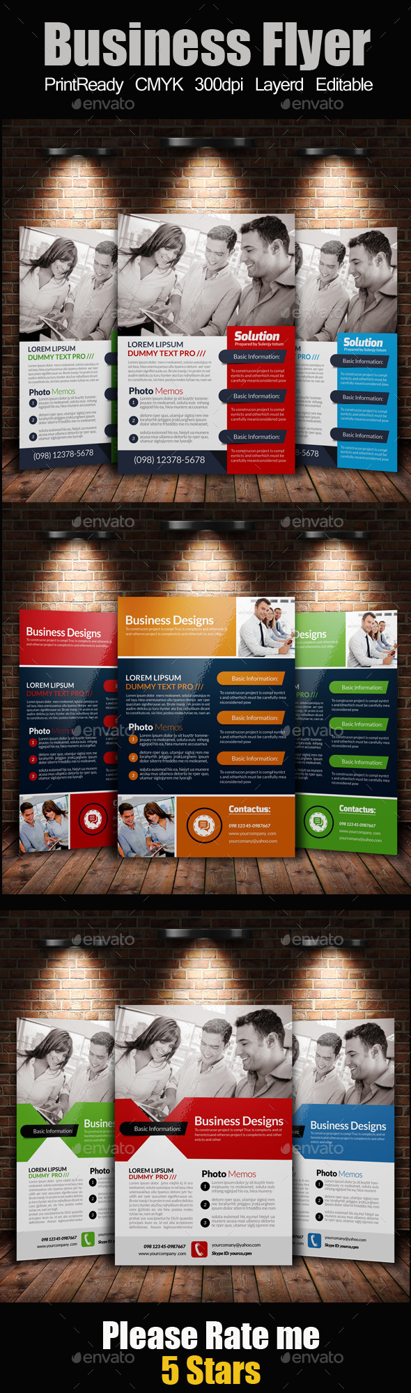 GraphicRiver A4 Business Flyer Template Bundle 11350151