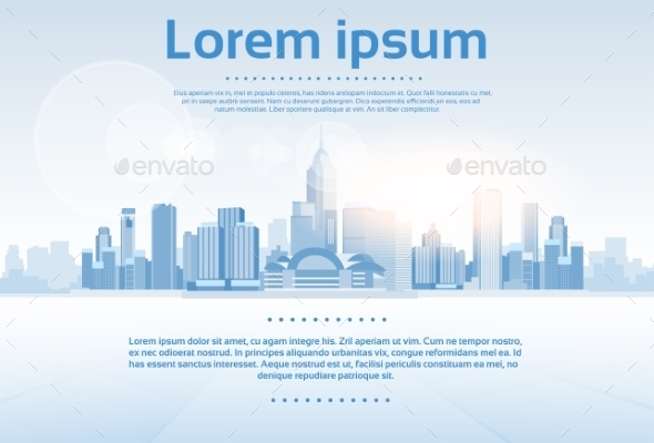 GraphicRiver City Skyscraper View Cityscape Background Skyline 11350309