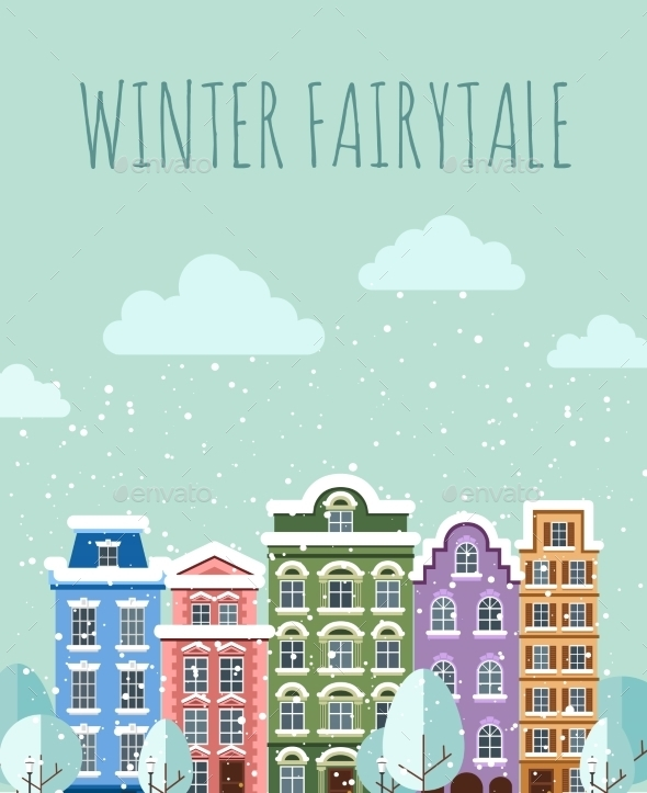 GraphicRiver Old Town In Winter 11350323