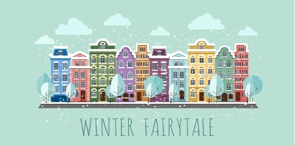 GraphicRiver Old Town In Winter 11350330