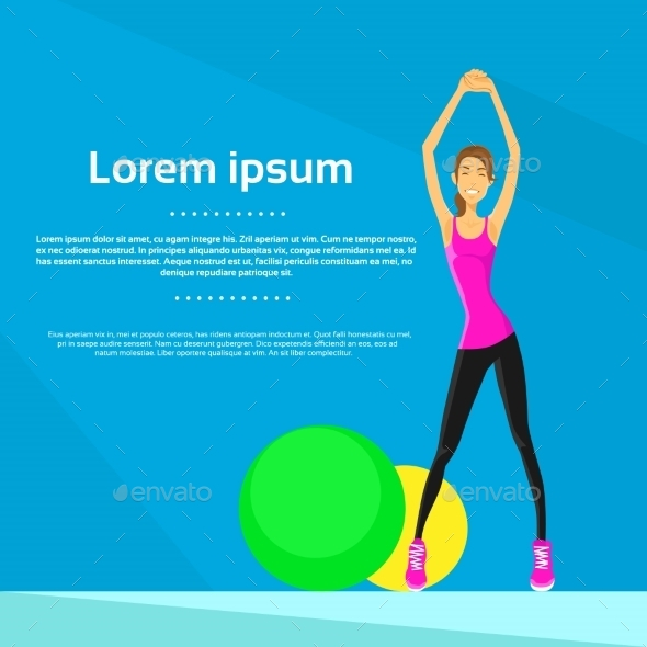 GraphicRiver Sport Woman Fitness Girl Exercise Workout 11350374