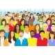 Diverse Group Of Faceless People Flat Design - GraphicRiver Item for Sale
