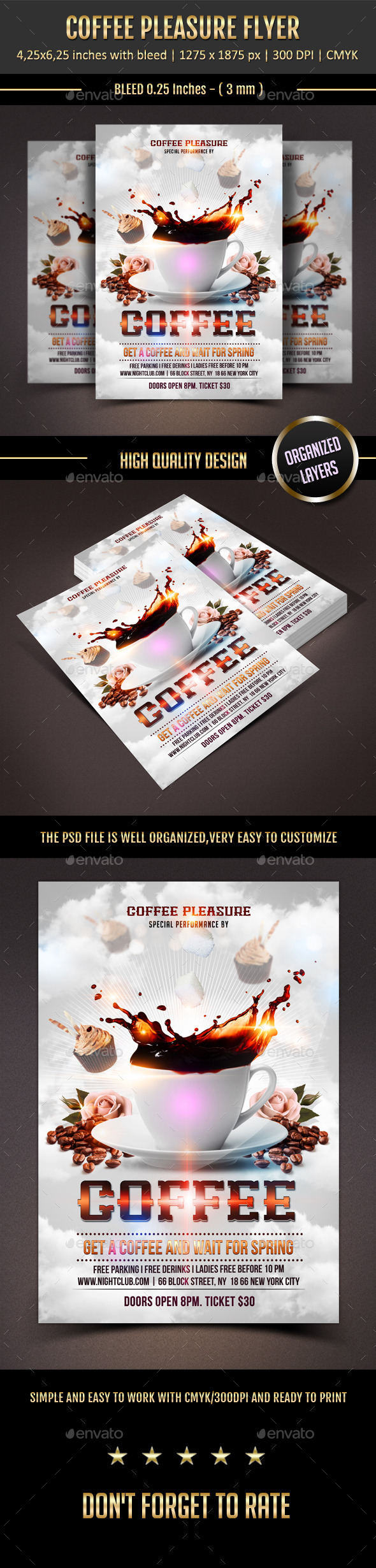 GraphicRiver Coffee Pleasure Flyer 11350466