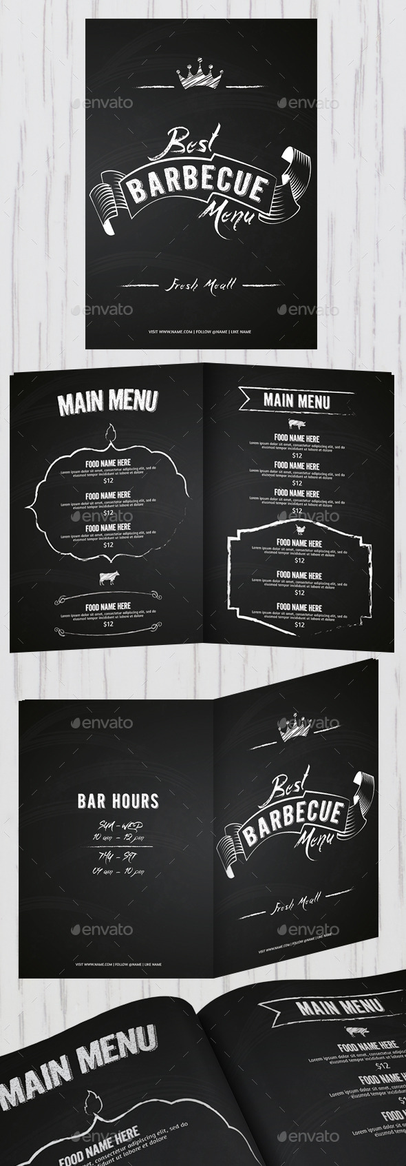 GraphicRiver Best Barbecue Menu 11350525
