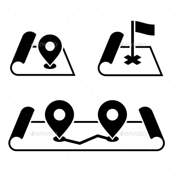 GraphicRiver Navigation Pin On Map Icons Set Vector 11350567