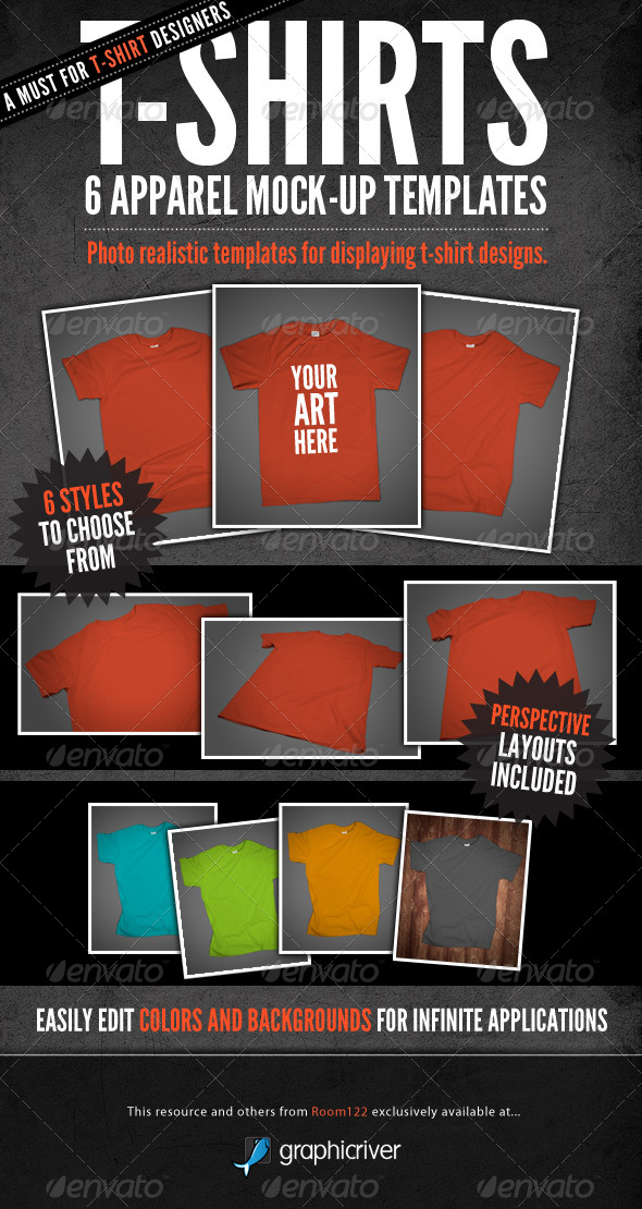 GraphicRiver T-Shirt Mock-Ups Apparel Design 140080