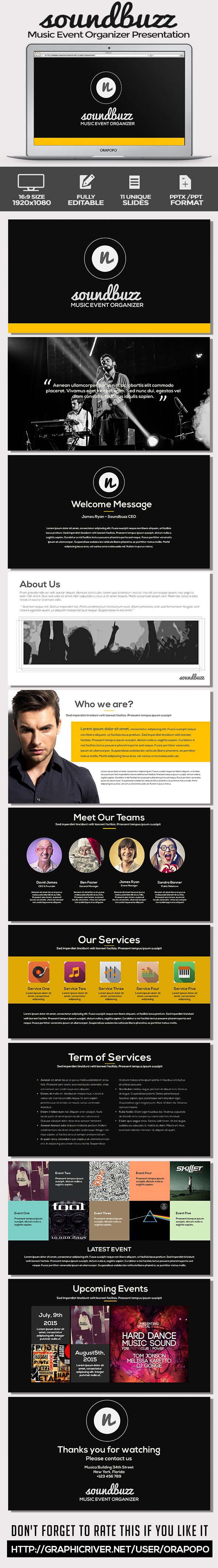 GraphicRiver SoundBuzz Music Event Organizer Presentation 11296369