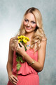 happy spring flower girl - PhotoDune Item for Sale