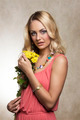 blond cute summer girl with flowers - PhotoDune Item for Sale