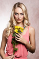 commercial shot of spring girl with flower - PhotoDune Item for Sale