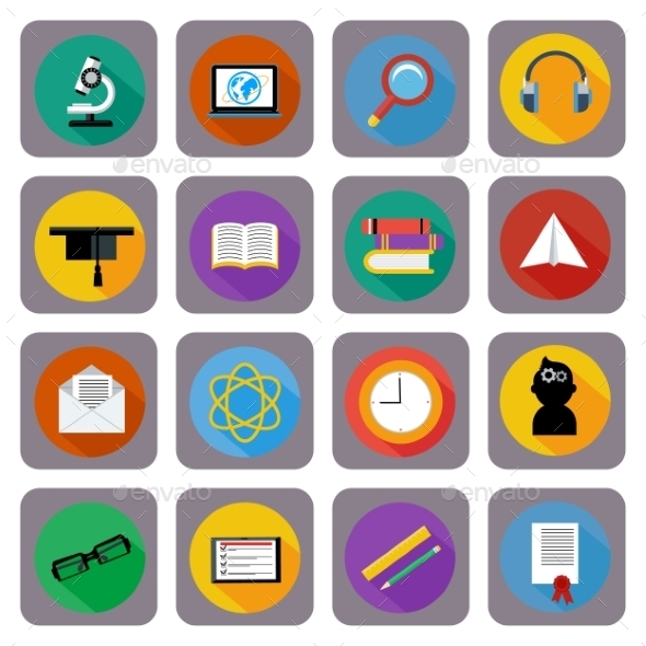 GraphicRiver Icon Set For Online Education 11352103