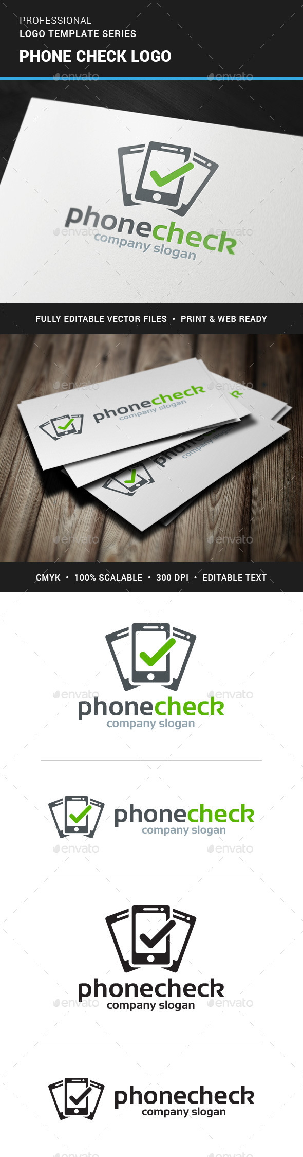 GraphicRiver Phone Check Logo Template 11352139
