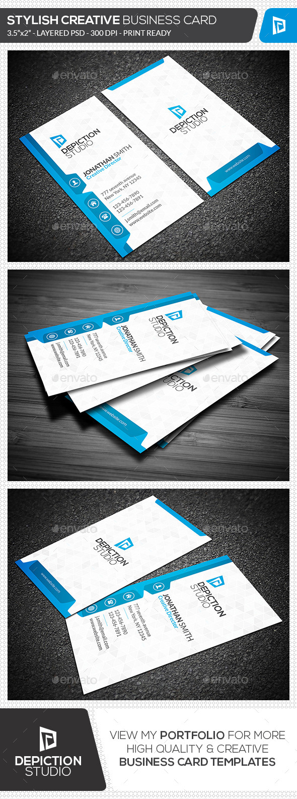 GraphicRiver Stylish Creative Business Card 11352145