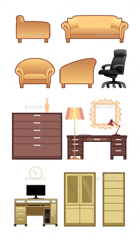 GraphicRiver Planar Furniture Collection 11325999