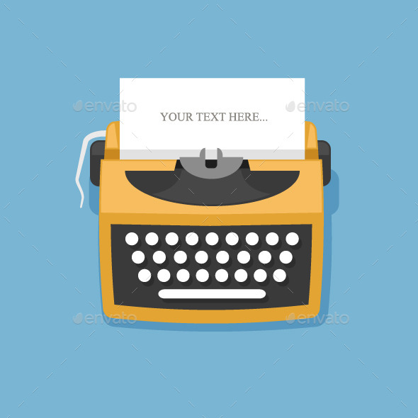 GraphicRiver Retro Typewriter 11352634
