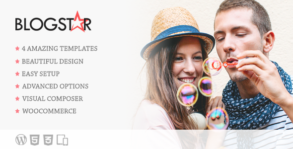 ThemeForest BlogStar Creative WordPress Blog Theme 11353032