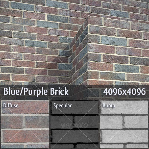 Blue Purple Brick