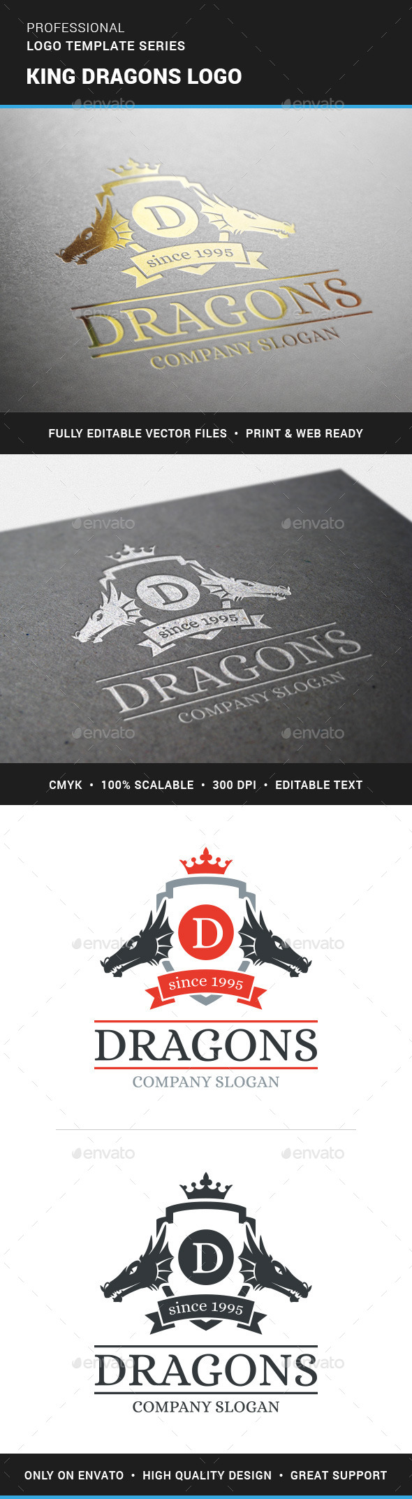 GraphicRiver King Dragons Logo Template 11353289