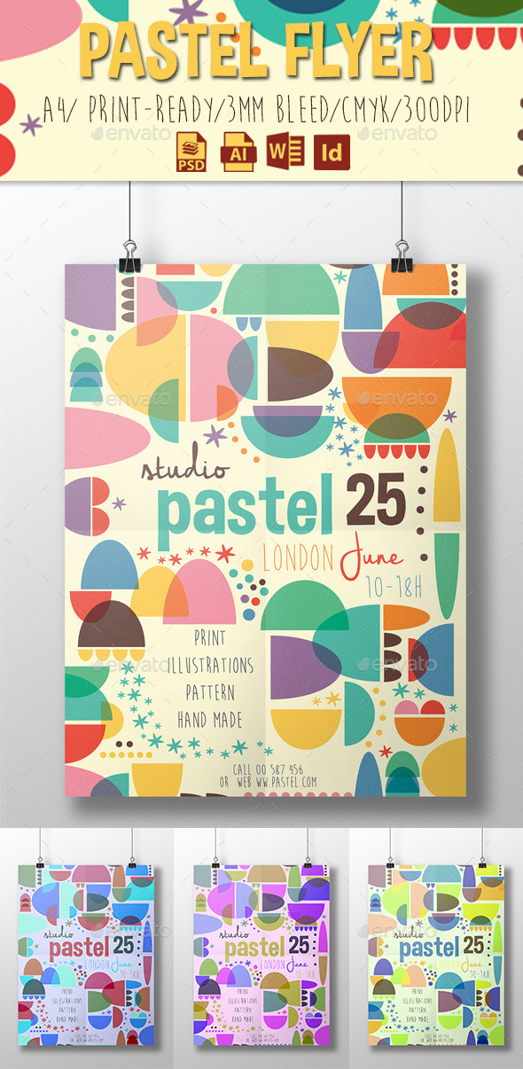 GraphicRiver Pastel Flyer 11353636