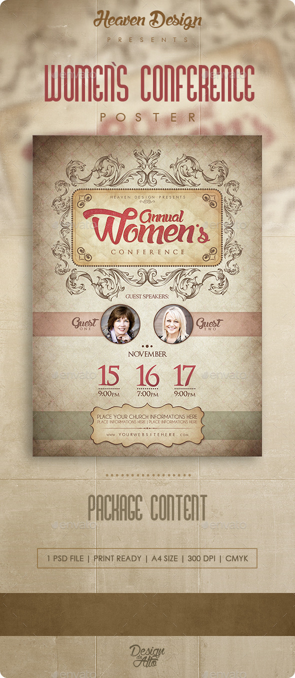 GraphicRiver Women`s Conference Poster 11294168