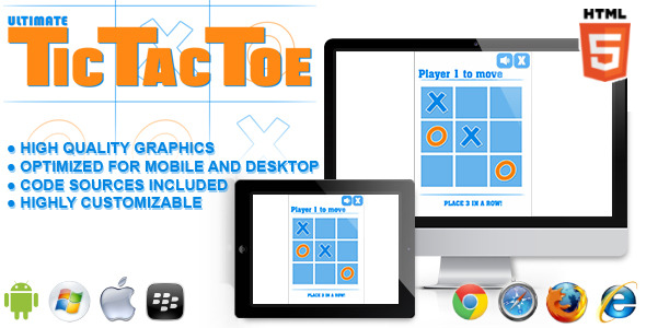 CodeCanyon Ultimate Tic Tac Toe HTML5 Game 11353872