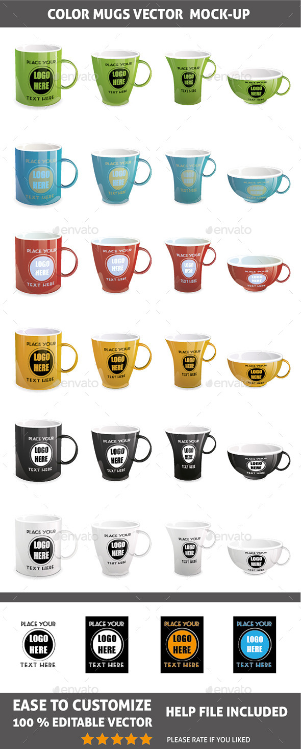 GraphicRiver Mugs Mock-up Vector 11353901