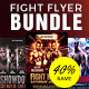 Fight Night Flyer Template PSD Bundle - GraphicRiver Item for Sale
