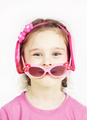 Little cute girl with pink sunglasses having fun - PhotoDune Item for Sale
